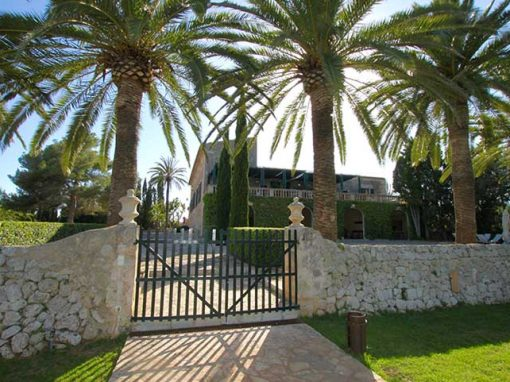 entrance of private villa Majorca
