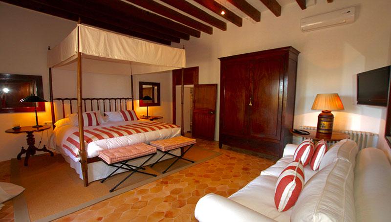 bedroom at villa in Majorca